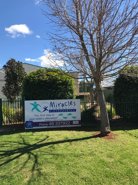 Little Miracles Community Kindergarten Toowoomba Front Building Singage
