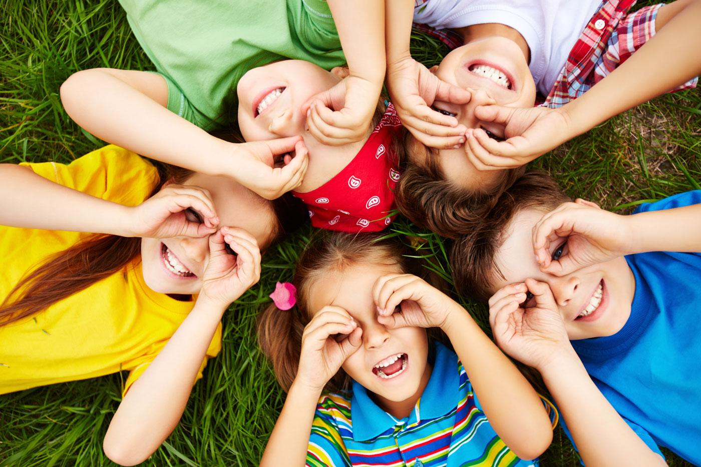 Children bright colourful shirt